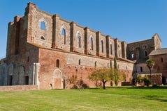 Abbey av San Galgano, Tuscany Royaltyfria Foton