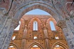 Abbey av San Galgano, Tuscany Royaltyfria Bilder
