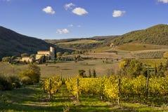 Abbey av Sant'Antimo, Tuscany Royaltyfria Foton