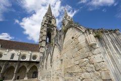 Abbey av St-Jean-des Vignes i Soissons Royaltyfri Fotografi