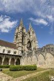 Abbey av St-Jean-des Vignes i Soissons Arkivfoto