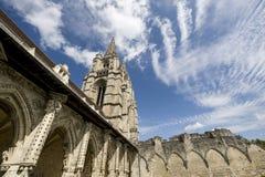 Abbey av St-Jean-des Vignes i Soissons Royaltyfri Foto