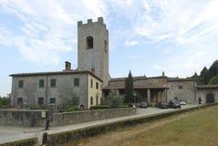 Abbey Badia een Coltibuono, Toskany, Italië 01 Royalty-vrije Stock Foto's
