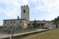 Abbey Badia en Coltibuono, Toskany, Italien 01 Royaltyfria Foton