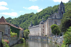The Abbey of Brantome, Dordogne Stock Photography