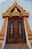Thailand Pagoda. Carved entrance gate of the pagoda Stock Photos