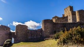 Abbey Castle Loarre Arkivbild
