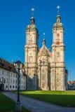Abbey Cathedral av StGallen i Schweiz Arkivfoton