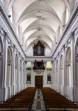 Abbey cathedral interior. Majestic church in Floreffe, Belgium Royalty Free Stock Images