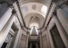 Abbey cathedral interior. Majestic church in Floreffe, Belgium Royalty Free Stock Image