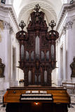 Abbey cathedral interior. Majestic church in Floreffe, Belgium Stock Photos