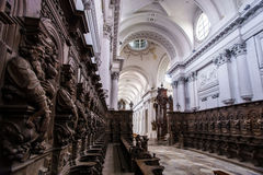 Abbey cathedral interior Royalty Free Stock Photo