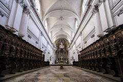 Abbey cathedral interior. Majestic church in Floreffe, Belgium Stock Images