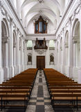 Abbey cathedral interior. Majestic church in Floreffe, Belgium Stock Image