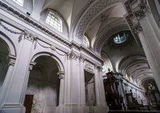 Abbey cathedral interior. Majestic church in Floreffe, Belgium Royalty Free Stock Photo
