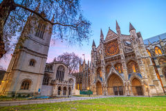 Abbey cathedral in London, United Kingdom. Twilight view of Westminister Abbey cathedral in London, United Kingdom Stock Photos