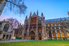 Abbey cathedral in London, United Kingdom. Twilight view of Westminister Abbey cathedral in London, United Kingdom Royalty Free Stock Photos