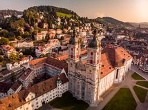Free Abbey Cathedral Of Saint Gall Stock Photo - 123984300