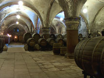 Abbey cellar. Cellar in Eberbach Abbey,GErmany royalty free stock photography