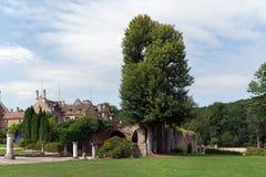 abbey cernay de vaux Arkivbild