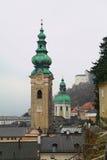 Abbey Church de St Peter Salzburg, Áustria fotografia de stock