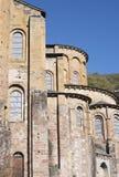 Abbey Church del santo Foy, Conques Imagen de archivo