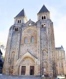 Abbey Church des Heiligen Foy, Conques Stockfoto