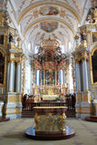 Abbey church of Ebersmunster. Magnificent baroque church in Alsace Royalty Free Stock Photography