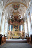 Abbey church of Ebersmunster. Magnificent baroque church in Alsace Stock Photos