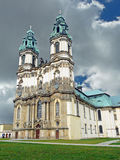 The Abbey Church in Krzeszów in Lower Silesia in. The monastery in Krzeszow (former: Gruessau) in Lower Silesia in Poland was founded in 1242. From 1728 on stock images