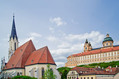 Abbey and Church of Melk Stock Image