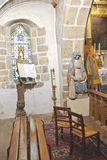 In the abbey church  of Mont Saint Michel. Stock Image