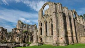 Abbey Church na abadia das fontes imagem de stock royalty free