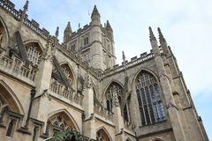 The Abbey Church of Saint Peter and Saint Paul, Bath, commonly k. Nown as Bath Abbey, Somerset England UK Europe royalty free stock photo