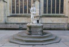 Bath Abbey - sculpture detail. Stock Photography