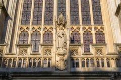 Bath Abbey - sculpture detail. Stock Images