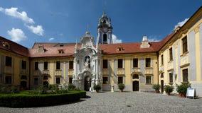Abbey Church von Durnstein, Wachau, Österreich Stockfotos