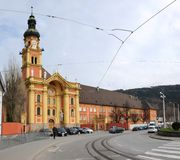 Abbey Church, Wilten, Austria Stock Photo
