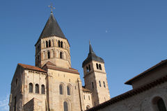 Abbey of Cluny. Bell tower. Cluny is the symbol of the monastic revival. The abbey was a leading intellectual center in the Middle Ages. Only a part subsists Royalty Free Stock Photos