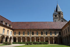 Abbey of Cluny convent. Cluny is the symbol of the monastic revival. The abbey was a leading intellectual center in the Middle Ages. Only a part subsists, under royalty free stock image