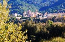 abbey de Μαρία βασιλικό santa poblet Καταλωνία στοκ εικόνες