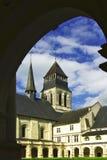 abbey de fontevro france Royaltyfria Foton
