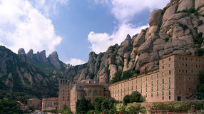 abbey de maria montserrat santa Arkivbilder