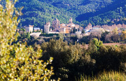abbey de maria pobletkunglig person santa catalonia Arkivfoto