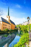 Abbey de Neumunster on Alzette river, Luxembourg Stock Image