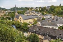 Abbey de Neumunster i den Luxembourg staden Arkivbild