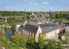 Abbey de Neumunster i Luxembourg Arkivbild