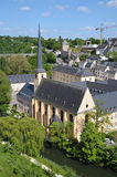 Abbey de Neumunster in Luxembourg. City in a calm day royalty free stock photography