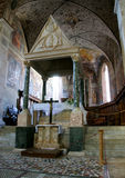 Abbey Farfa. Inside benedictine Abbey of Santa Maria di Farfa Royalty Free Stock Photos