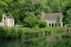 The abbey of Fontaine Guerard in Radepont Royalty Free Stock Image
